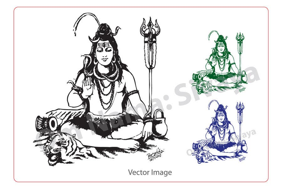 Konkurrenceindlæg #                                        40                                      for                                         Sketches of deities for a new book to be published on Hinduism