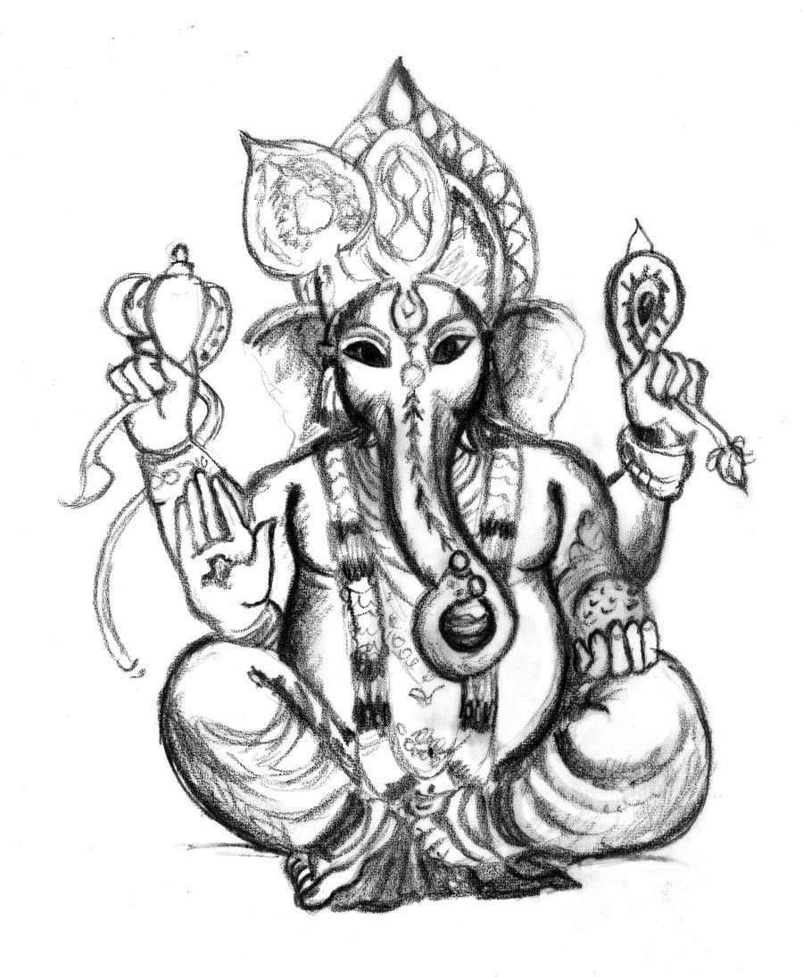 Inscrição nº                                         12                                      do Concurso para                                         Sketches of deities for a new book to be published on Hinduism