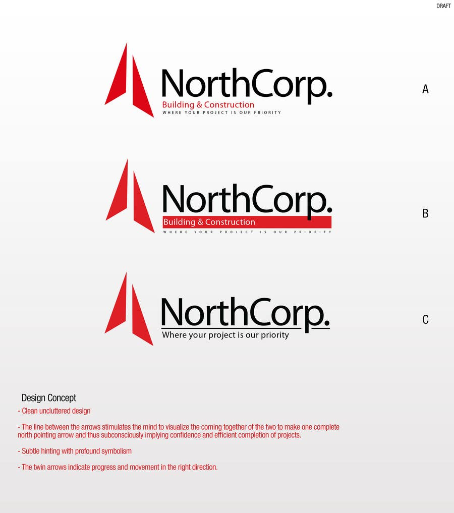 Konkurrenceindlæg #                                        162                                      for                                         Corporate Logo Design for Northcorp Building & Construction