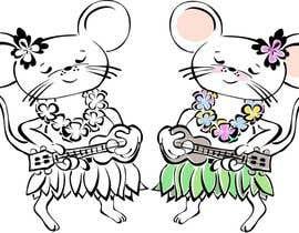 Attebasile tarafından Illustrate a cute, little, mouse holding a ukulele. için no 9