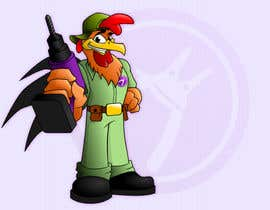 #7 para Need a Cartoon Rooster -- Cable TV Service Man Created! por GreenAndWhite