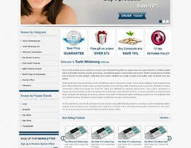 #18 para Website Design for Teeth Whitening Australia (Online Retailer) por kosmografic