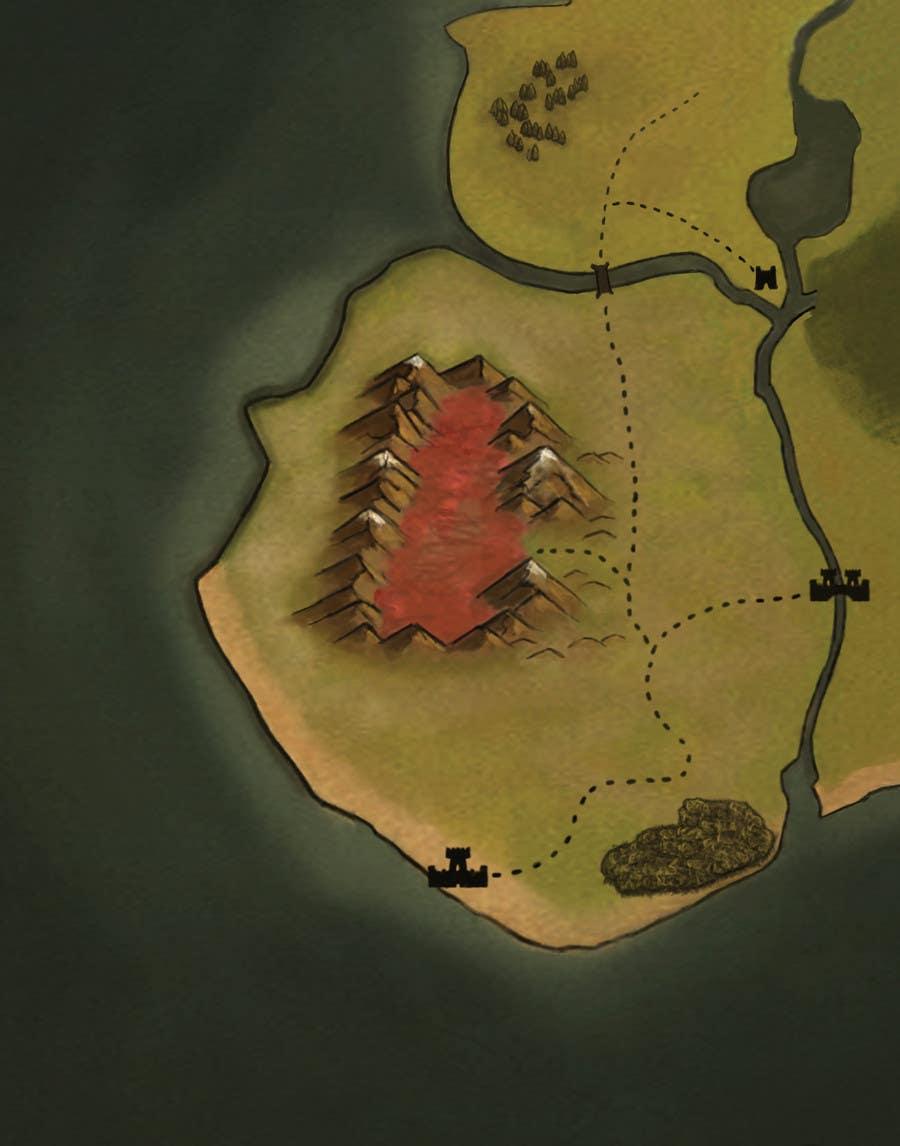 Fantasy Life World Map.Entry 20 By Sbellshaw For Illustrate A Fantasy World Map Freelancer