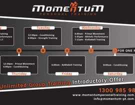 #13 for Design an eye catching timetable for my Group Personal Training Program by shalinshah91