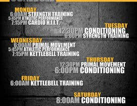 #4 for Design an eye catching timetable for my Group Personal Training Program by ryanPaderanga