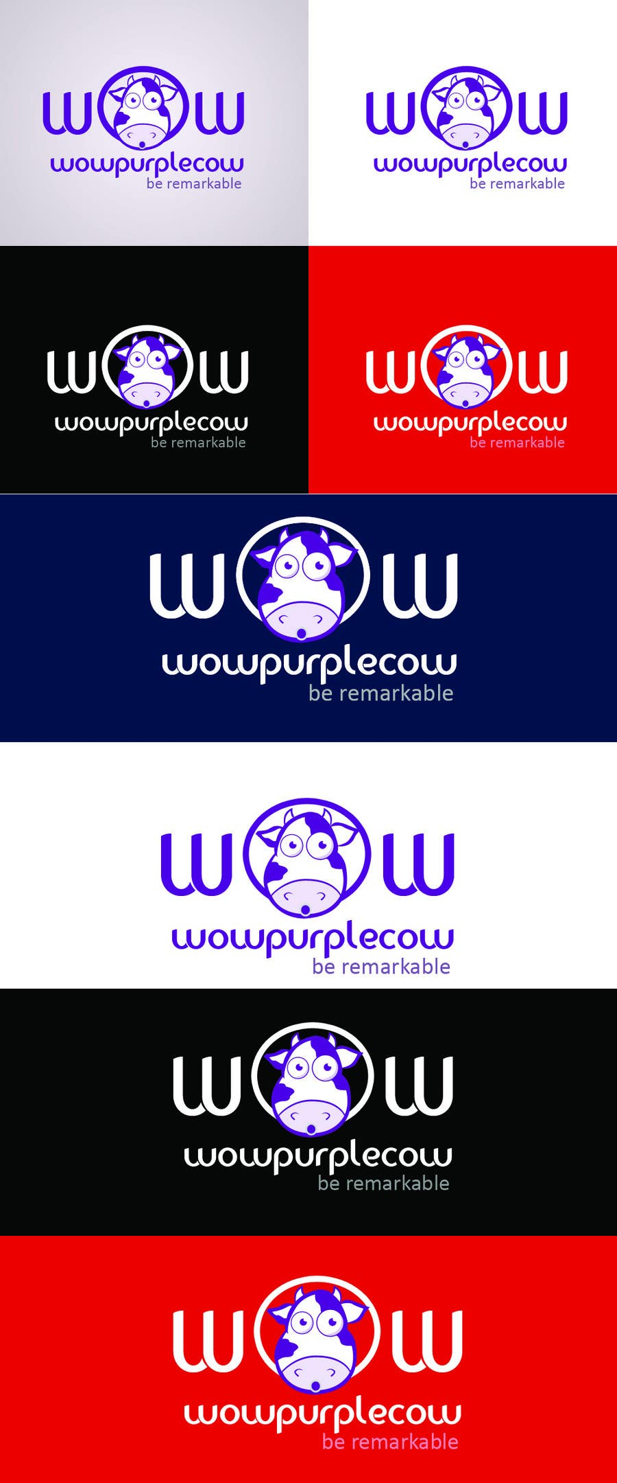 Entry 416 By Santossystems For Wow Purple Cow Logo
