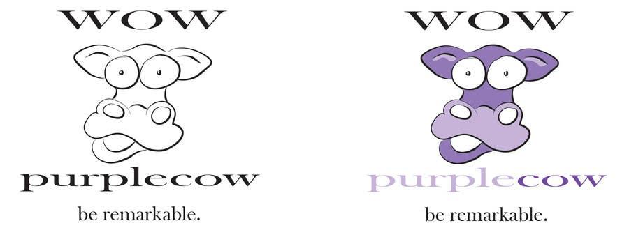 Bài tham dự cuộc thi #242 cho WOW! Purple Cow - Logo Design for wowpurplecow.com - Lots of creative freedom, Guaranteed Winner!