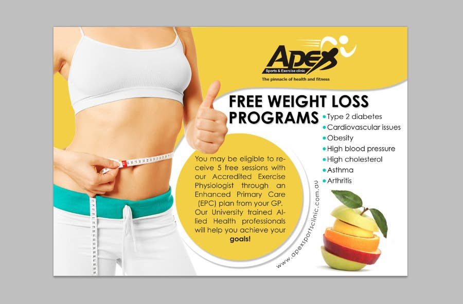 Inscrição nº                                         14                                      do Concurso para                                         Design a small flyer for weight loss to leave at shop counters