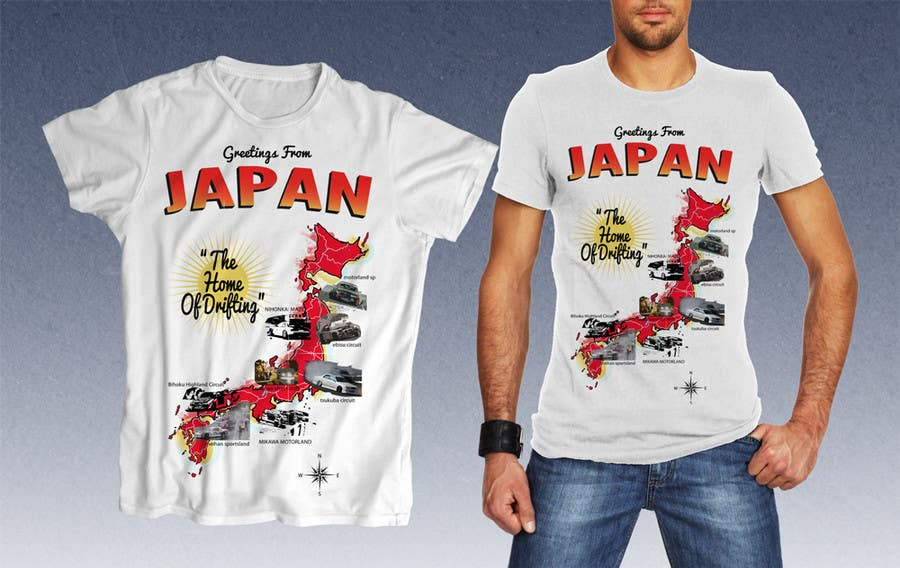 """Inscrição nº                                         12                                      do Concurso para                                         Design a """"greetings from Japan"""" design for car drifting company"""