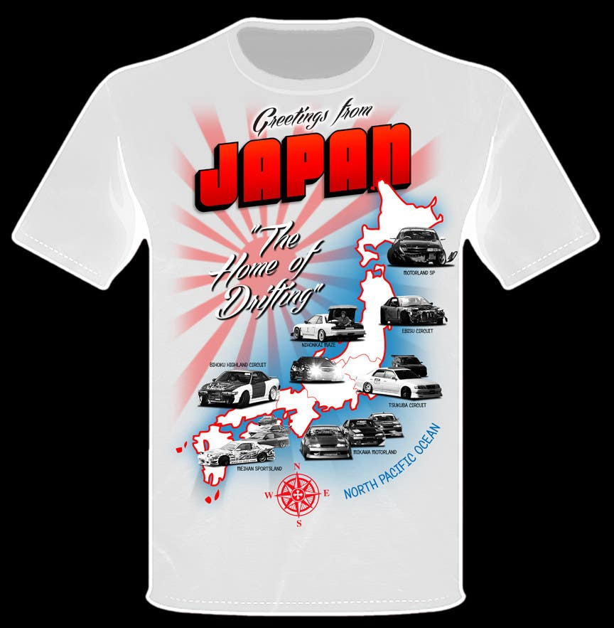 """Inscrição nº                                         10                                      do Concurso para                                         Design a """"greetings from Japan"""" design for car drifting company"""