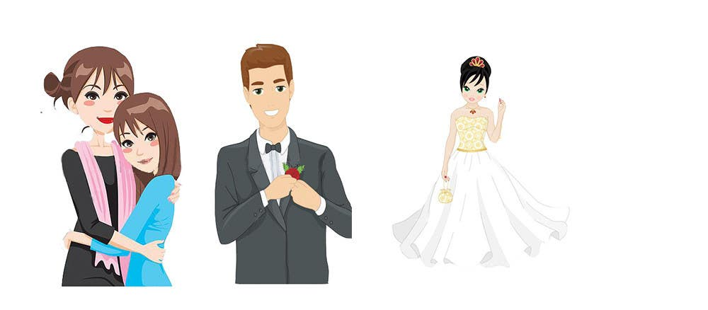Entry 1 by soidermanman for 16 clipart images for app wedding contest entry 1 for 16 clipart images for app wedding party bride junglespirit Images