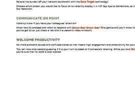 Nro 15 kilpailuun Product Descriptions (4 key points, 4 sentences) käyttäjältä trixiaobdamen