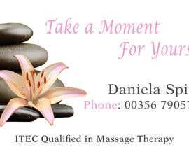 nº 15 pour Deisgn Business Cards for Massage Therapy par kmalampy