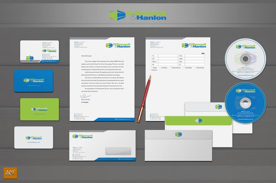 Contest Entry #93 for Stationery Design for O'Donnell & Hanlon Pty Ltd