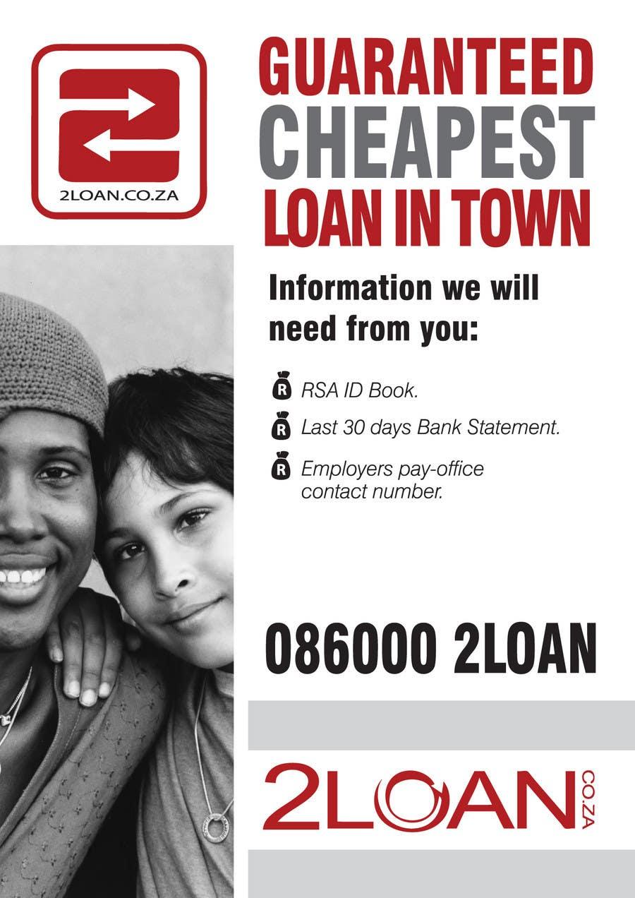 Конкурсная заявка №61 для Advertisement Design for 2Loan.co.za Shopfront Mockup & Marketing Material Design