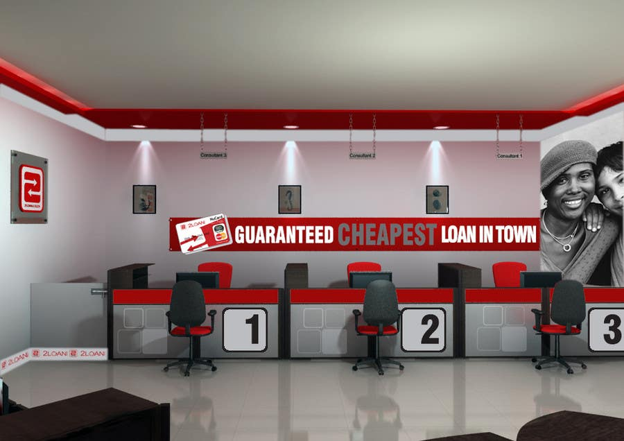 Bài tham dự cuộc thi #                                        85                                      cho                                         Advertisement Design for 2Loan.co.za Shopfront Mockup & Marketing Material Design
