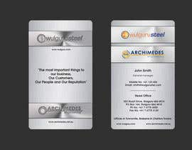 #84 untuk Business Card Design for Wulguru Group - incorporates Wulguru Steel & Archimedes Engineering oleh lihia