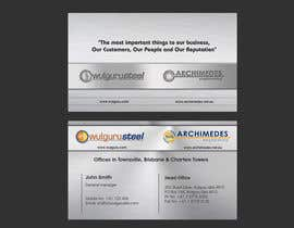 #83 untuk Business Card Design for Wulguru Group - incorporates Wulguru Steel & Archimedes Engineering oleh lihia