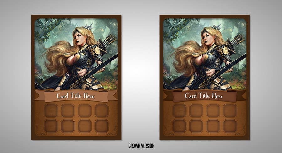entry 40 by exdrell for create a fantasy card game template
