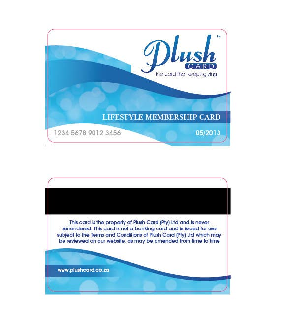 Contest Entry #                                        19                                      for                                         Loyalty Card Redesign for Plush Card (Pty) Ltd