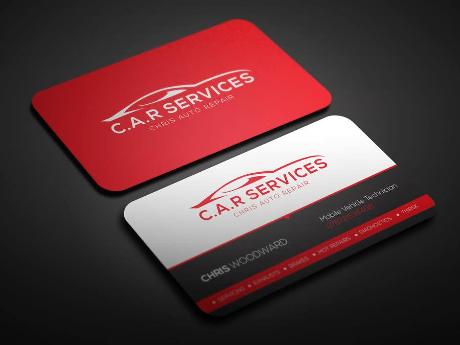 Entry #38 by OviRaj35 for Design car mechanic business card ...
