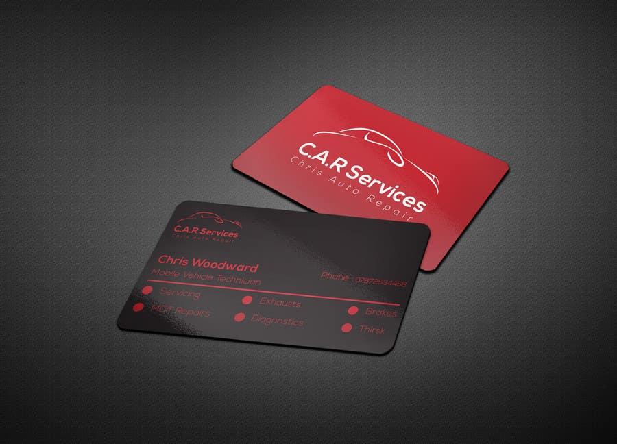 Entry #77 by aksghs for Design car mechanic business card | Freelancer