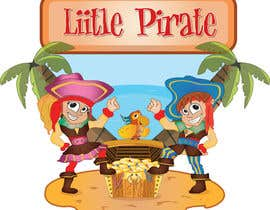 #127 untuk Logo Design for a baby shop - Nice pirates with a Cartoon style, fun and modern oleh aslikarabudak