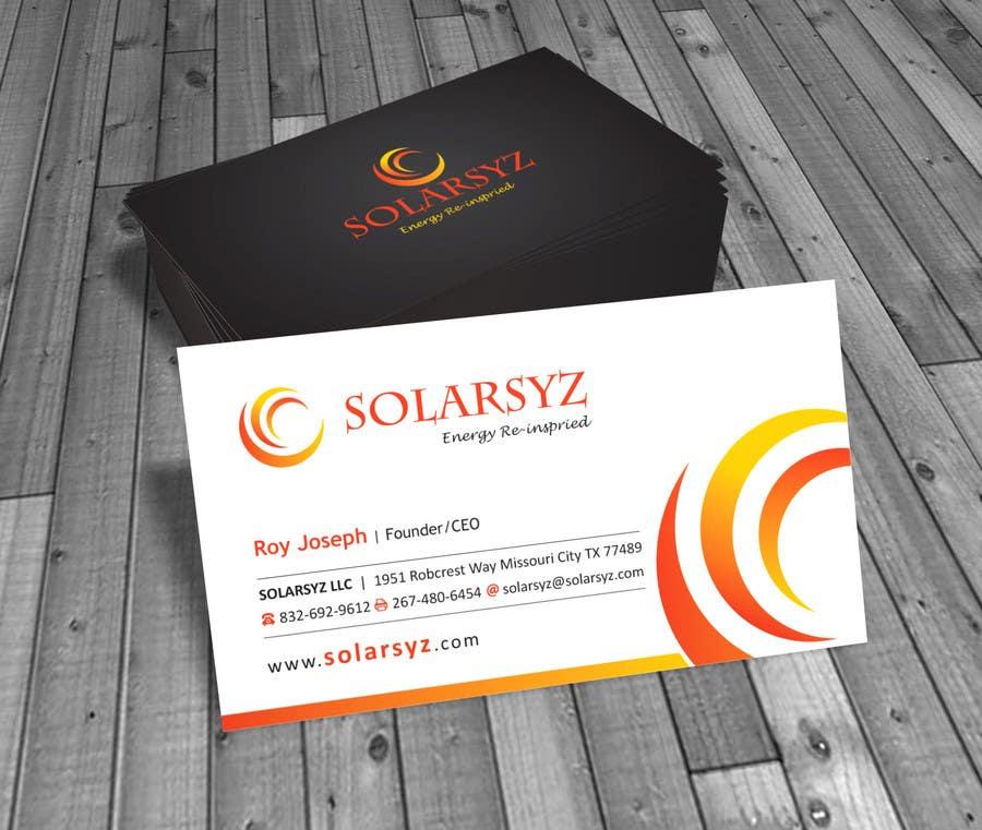 Inscrição nº                                         48                                      do Concurso para                                         Business Card Design for SolarSyz