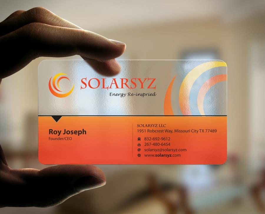 Inscrição nº                                         115                                      do Concurso para                                         Business Card Design for SolarSyz
