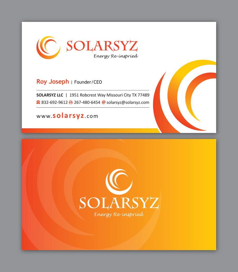 Inscrição nº                                         116                                      do Concurso para                                         Business Card Design for SolarSyz