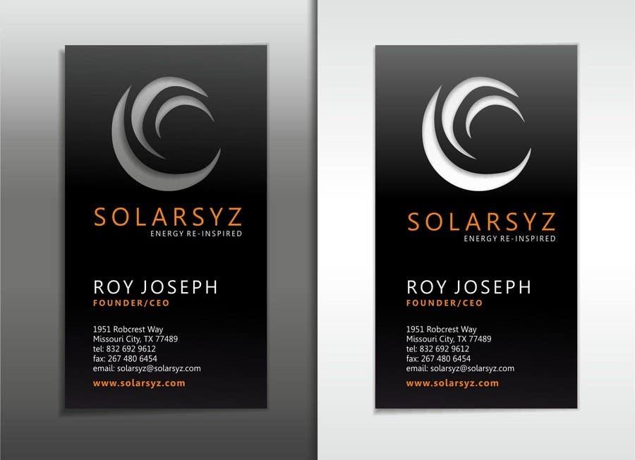 Inscrição nº                                         22                                      do Concurso para                                         Business Card Design for SolarSyz
