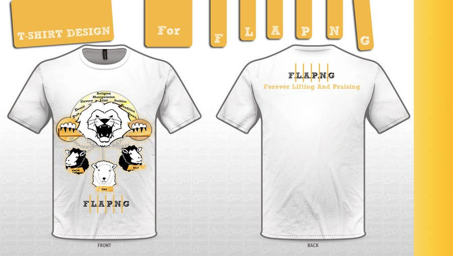Inscrição nº                                         86                                      do Concurso para                                         T-shirt Design for F.L.A.P.N.G. (forever lifting and praising)