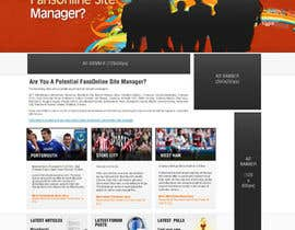 nº 27 pour Website Design for FansOnline.net Ltd par techwise
