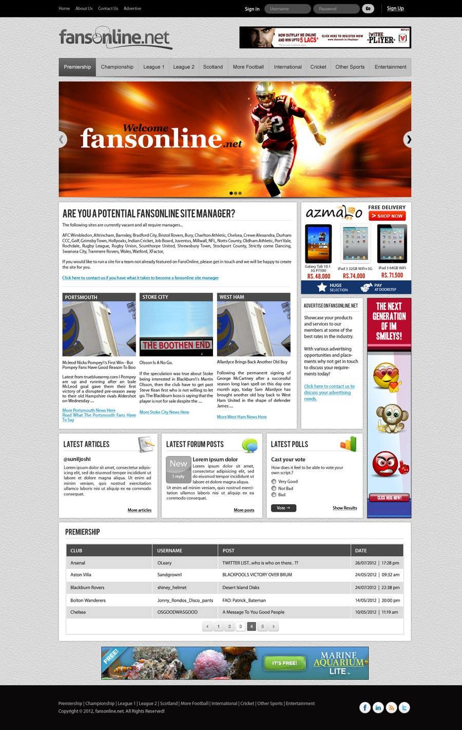Bài tham dự cuộc thi #                                        24                                      cho                                         Website Design for FansOnline.net Ltd