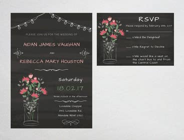Image of                             Wedding Invitations + RSVP Cards