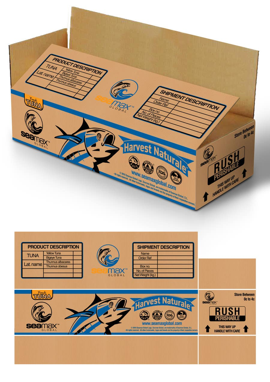 Make an awesome packaging design for a shipping box for Box blueprint maker