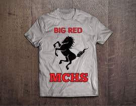 db1404 tarafından Mustangs spiritwear shirt için no 23