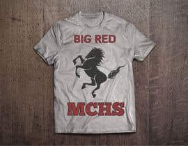 db1404 tarafından Mustangs spiritwear shirt için no 24