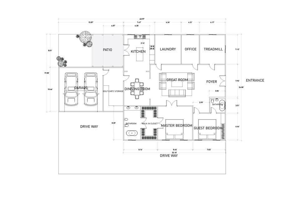 House Floor Plan Using Google Sketchup Freelancer