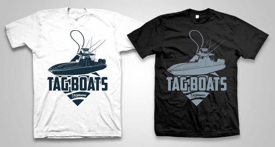 Kilpailutyö #                                        34                                      kilpailussa                                         T-shirt Design for Tag Boats
