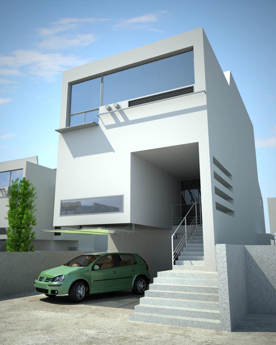 Villa house design 2d and 3d views