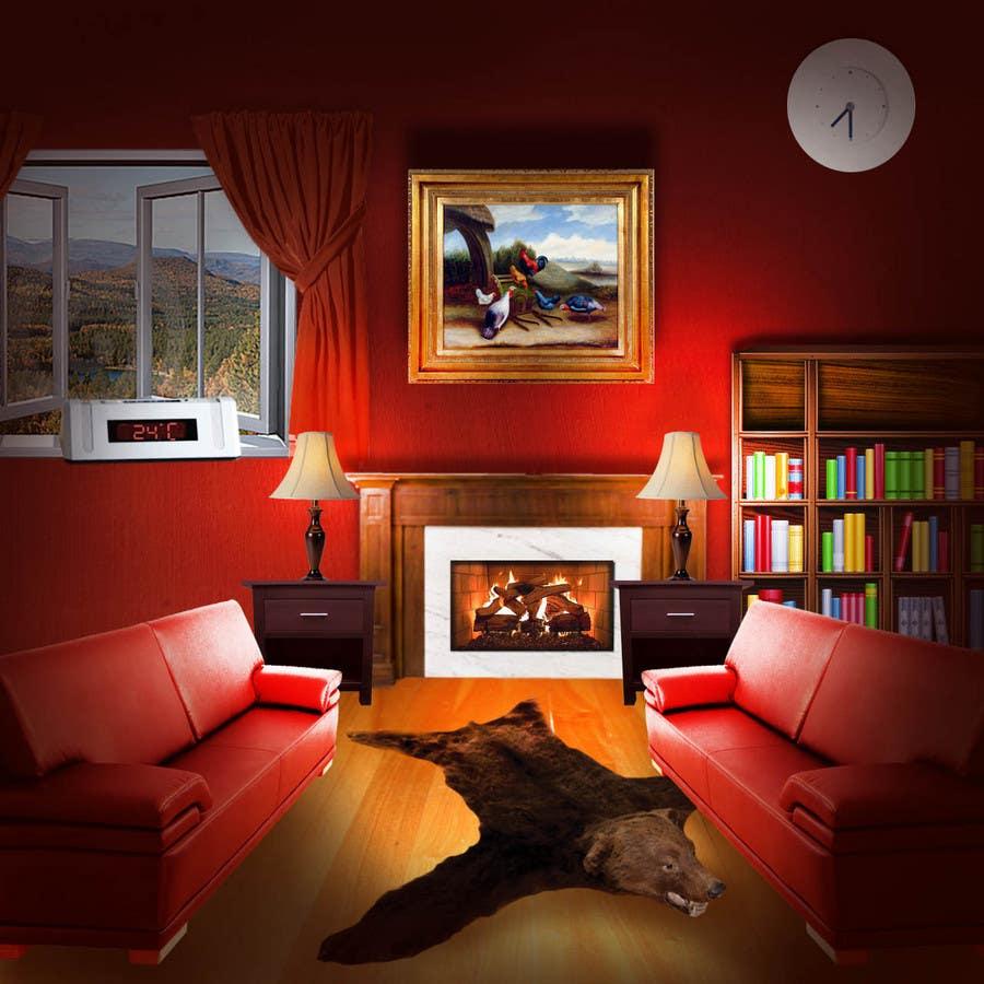 Inscrição nº                                         23                                      do Concurso para                                         Transform a bad hand drawing into a quality graphic-Two Living Rooms (2 styles:Log Cabin and Modern)