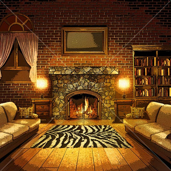 Inscrição nº                                         15                                      do Concurso para                                         Transform a bad hand drawing into a quality graphic-Two Living Rooms (2 styles:Log Cabin and Modern)