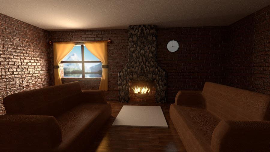 Inscrição nº                                         27                                      do Concurso para                                         Transform a bad hand drawing into a quality graphic-Two Living Rooms (2 styles:Log Cabin and Modern)
