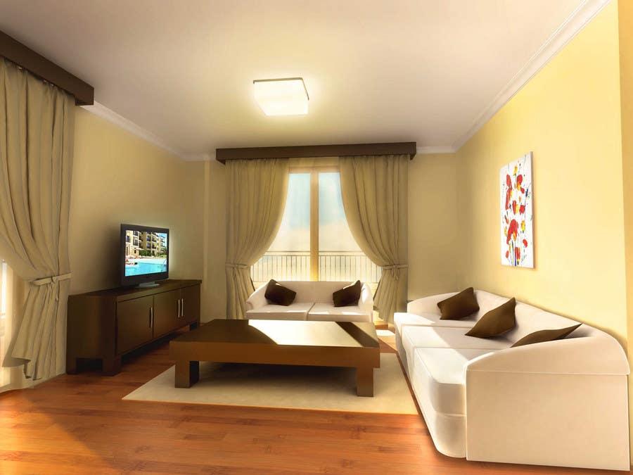 Inscrição nº                                         32                                      do Concurso para                                         Transform a bad hand drawing into a quality graphic-Two Living Rooms (2 styles:Log Cabin and Modern)