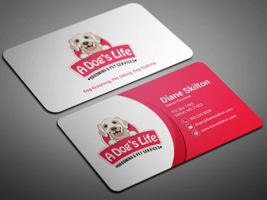 Entry 44 By Smartghart For Design Business Cards Pet Services