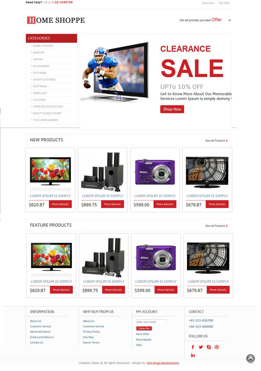 entry 8 by codesunni0010 for newsletter html template e commerce