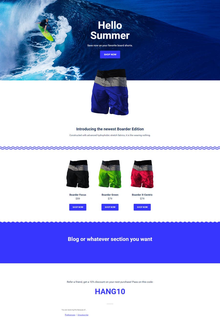 entry 24 by faneel for newsletter html template e commerce oriented
