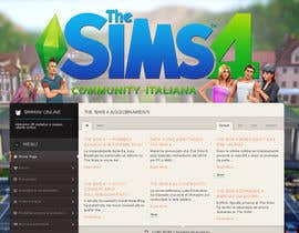 program23 tarafından Design a Logo and background for The Sims 4 thesims4.it için no 50