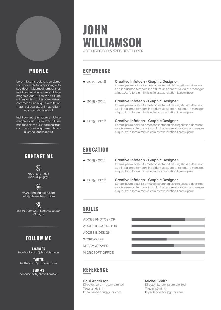 design an original and stylish cv format lancer 6 for design an original and stylish cv format by fluefyn